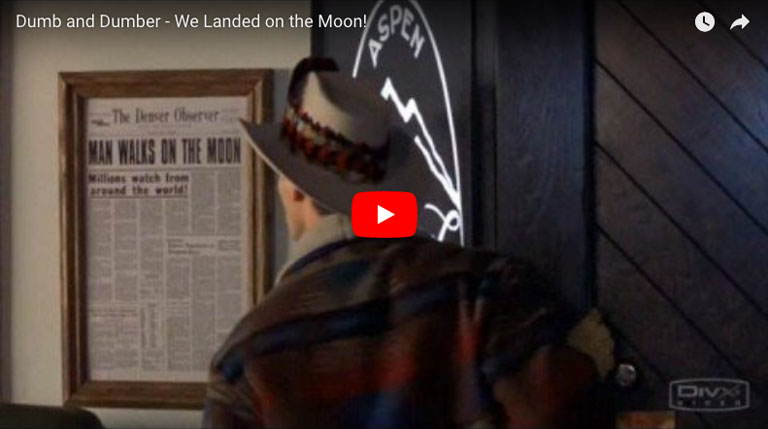 Dumb And Dumber Landed On The Moon Poster