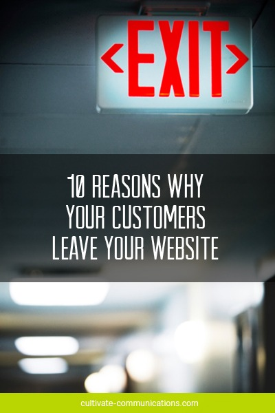 Why Your Customers Leave Your Website