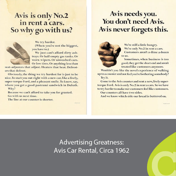 4 Ways Small B2B Businesses Can Nab More Sales: Advertising Greatness: Avis Car Rental, Circa 1962