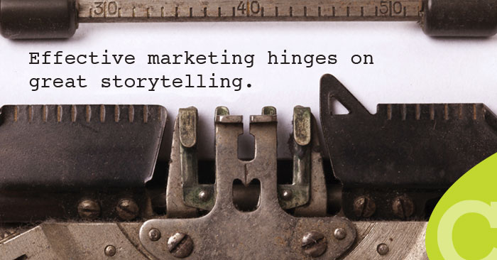 We use stories to connect with other human beings. The best stories are compelling; they speak to our passions and capture our imaginations. That's why effective marketing hinges on great storytelling.