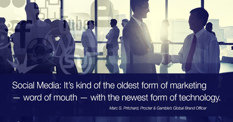 It's kind of the oldest form of marketing — word of mouth — with the newest form of technology. ~ Pritchard