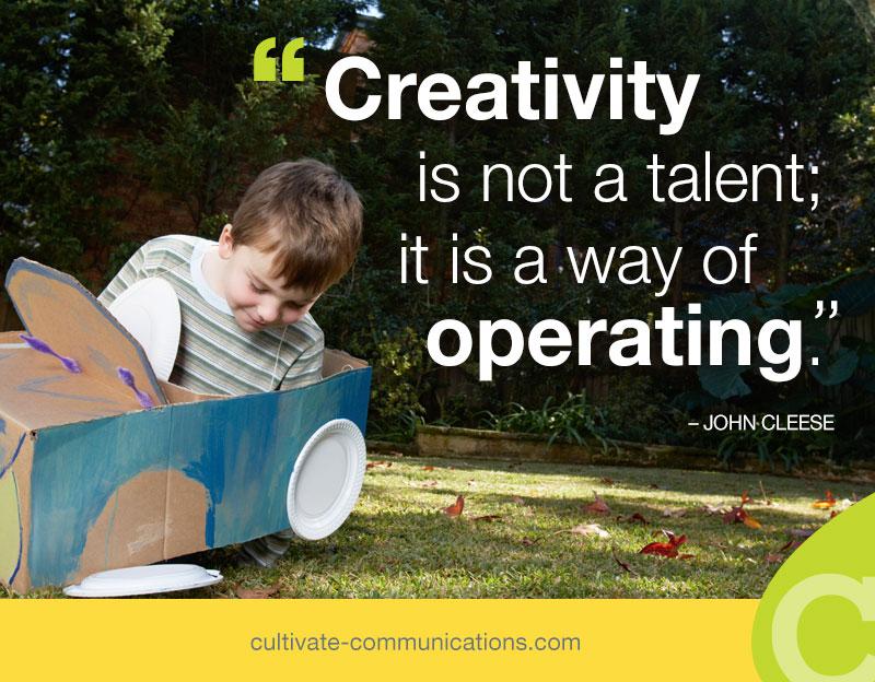 John Cleese creativity quote - Motivational Monday