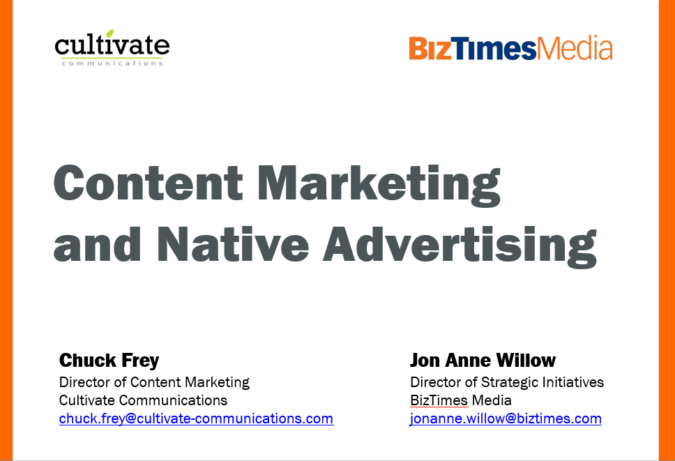 Content Marketing And Native Advertising Presentation