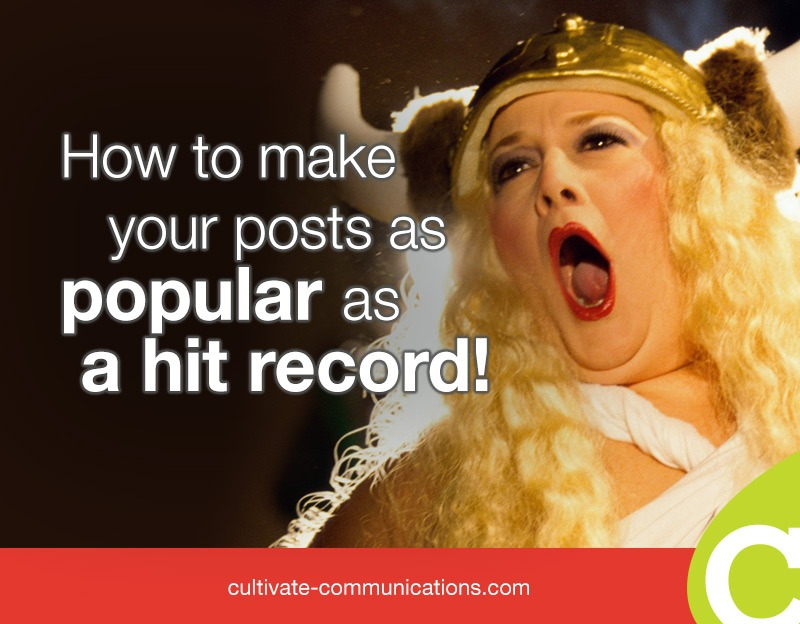 How to make your blog posts as popular as a hit record