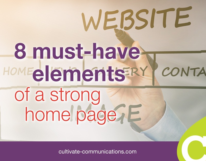 8 must-have elements of a strong home page