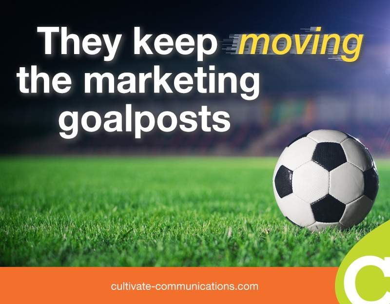 They keep moving the marketing goalposts