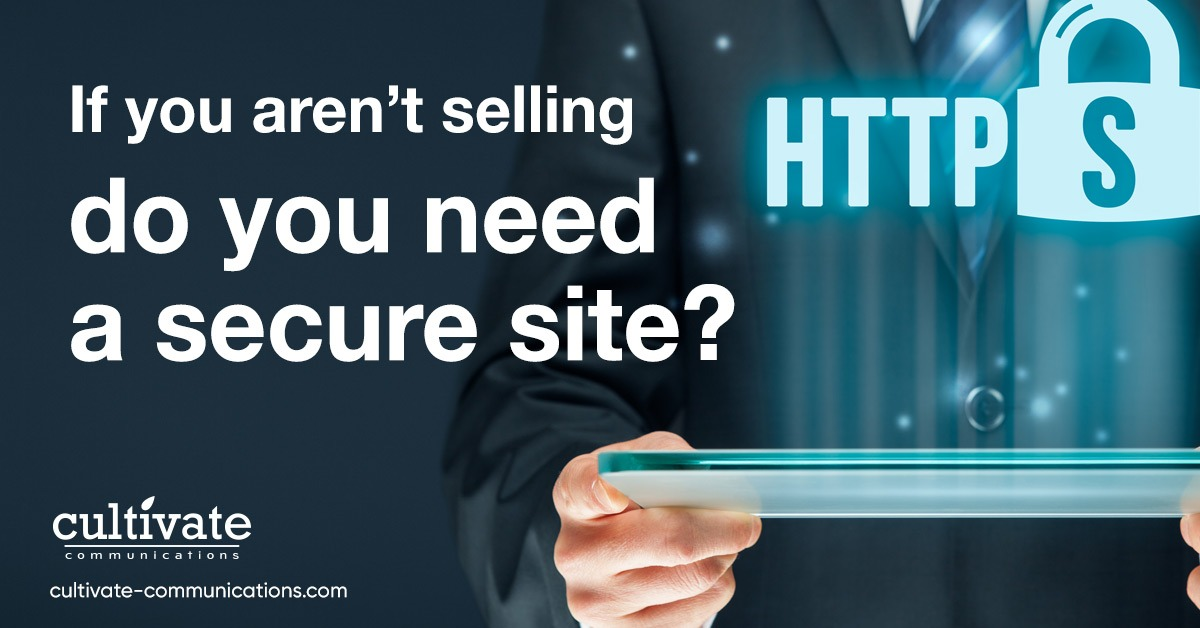 If you aren't selling, do you need a secure site?