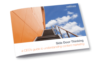 Side Door Thinking: Learn the smart marketing tactics you need to truly engage with more customers.