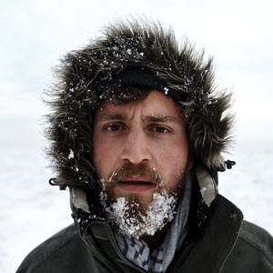Cold Man With Snow Beard